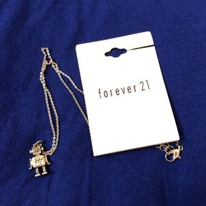 SALE: NWT Forever 21 robot necklace